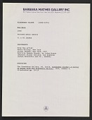 "view Barbara Mathes Gallery records pertaining to ""Rio Nero"" lawsuit, 1989-1995 digital asset number 1"