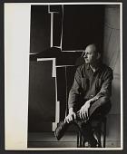 view Will Barnet with his painting <em>Singular image</em> digital asset number 1