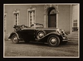 view Rudolf Bauer in his 1930 Graham-Paige automobile. digital asset number 1