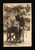 view Rudolf Bauer seated with a lion cub digital asset number 1