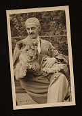 view Rudolf Bauer with a lion cub in his lap digital asset number 1