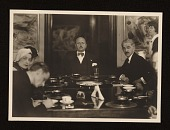 view Filippo Tommaso Marinetti, Rudolf Bauer and others seated at a table digital asset number 1