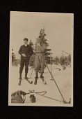 view Photograph of Rudolf Bauer and unidentified man skiing digital asset number 1