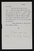 view Robert Motherwell letter to William Baziotes with illustrated envelope digital asset number 1