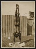 view Artist's model Tony Sansone executing a handstand pose digital asset number 1