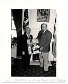 view Romare Bearden and Mayor Abe Beame of New York City with a Bicentennial print digital asset number 1