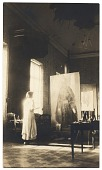 view Cecilia Beaux with painting digital asset number 1