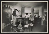 view David Berger and family in his home studio digital asset number 1