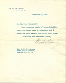 view Woodrow Wilson letter to Clifford Berryman digital asset number 1