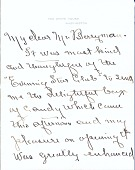 view Edith Bolling Wilson letter to Clifford Berryman digital asset: page 1