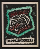 view Hall & Taggart Christmas card to Kathleen Blackshear and Ethel Spears digital asset number 1