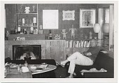 view Arnold Blanch seated near a fireplace. digital asset number 1