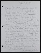 view Letter from Philip Guston to Donald Blinken digital asset number 1