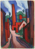view Oscar Bluemner study <em>The dance of factory life, etc., etc.</em> digital asset number 1
