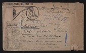 "view Envelope for Oscar Bluemner's art motif ""Patterson [i.e. Paterson] snow pictures"" digital asset number 1"