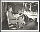 view Peter Blume sketching patients at Halloran General Hospital in Staten Island digital asset number 1
