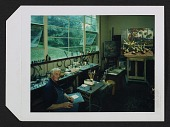view Peter Blume in his studio in Sherman, Connecticut with his painting <em>Autumn</em> digital asset number 1