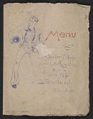 view Mariano Fortuny birthday dinner menu digital asset number 1