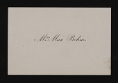view Max Bohm papers digital asset: Calling Cards, Biographical Accounts and Award Certificates