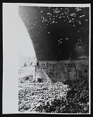 "view Photorgaph of underside of bridge with Chaz Bojorquez's pictographic tag ""Señor Suerte"" digital asset number 1"
