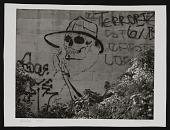 """view Photograph of Chaz Bojorquez's pictographic tag """"Senor Suerte"""" digital asset number 1"""