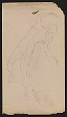 view Solon Borglum drawing of a woman digital asset number 1