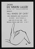 view <em>All Kinds of Cats: New Serigraphs and Collage by Dorr Bothwell</em> exhibition announcement digital asset number 1