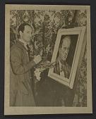 view George Gershwin painting portrait of Arnold Schoenberg digital asset number 1