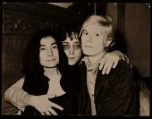 view Yoko Ono, John Lennon and Andy Warhol digital asset number 1