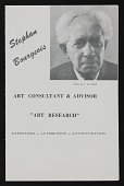 view Stephan Bourgeois papers, 1908-circa 1964 digital asset number 1