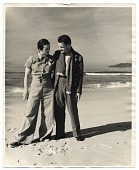 view Betty and Harry Bowden on the beach at Carmel, California. digital asset number 1