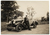 view Harry Bowden leaning on a car digital asset number 1