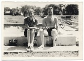 view Harry Bowden sitting by a pool digital asset number 1
