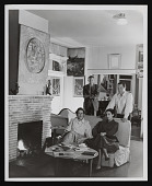 view Photograph of Lee Mullican, Gordon Onslow-Ford, Luchita Hurtado, and Jacqueline Johnson in the San Francisco home of Onslow-Ford and Johnson digital asset number 1