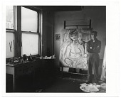 view Willem de Kooning in his studio digital asset number 1