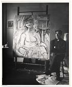 view Willem de Kooning in his studio digital asset number 1