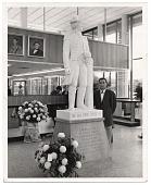 view Edgar W. Bowlin with sculpture digital asset number 1