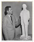 view Edgar W. Bowlin with sculpture. digital asset number 1