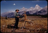 view Paul Bransom plein air painting at Grand Teton, Wyoming digital asset number 1