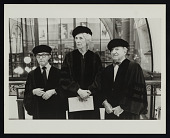 view Raphael Soyer, Adelyn Dohme Breeskin, and Joseph Hirshhorn receiving honorary degrees at the Maryland Art Institute digital asset number 1