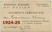 view Payment for Entrance Fee to the National Academy of Design's school digital asset number 1