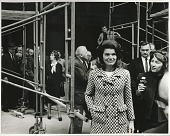 view Marcel Breuer and Jacqueline Kennedy touring the construction of the Whitney Museum of American Art digital asset number 1