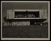 view Wolfson Trailer House designed by Marcel Breuer. Pleasant Valley, New York. View of South elevation digital asset number 1