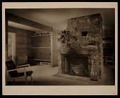 view Chaimberlain Cottage, Wayland, Mass., designed by Marcel Breuer. Interior view digital asset number 1