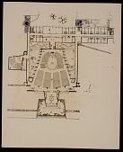view Plan of: St. John's Abbey Church, monastic wing, studdent dormitory, and projected library, Collegeville, Minnesota digital asset number 1