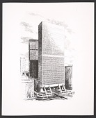 view Grand Central Air Rights Building, proposal drawing without facade - version 1 digital asset number 1