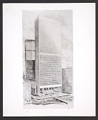 view Grand Central Air Rights Building, proposal drawing without facade - version 2 digital asset number 1