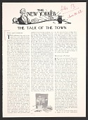 view Clipping from <em>The New Yorker</em> Talk of the Town column digital asset number 1