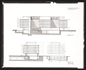 view Architectural drawing of section AA and section BB for the Air Rights Building at the Department of Health, Education, and Welfare Headquarters, Hubert H. Humphrey Building digital asset number 1
