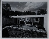 view Photograph of walled-in yard and living room of Rufus Stillman House II in Litchfield digital asset number 1